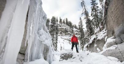 Entre ski et canyon à Jasper